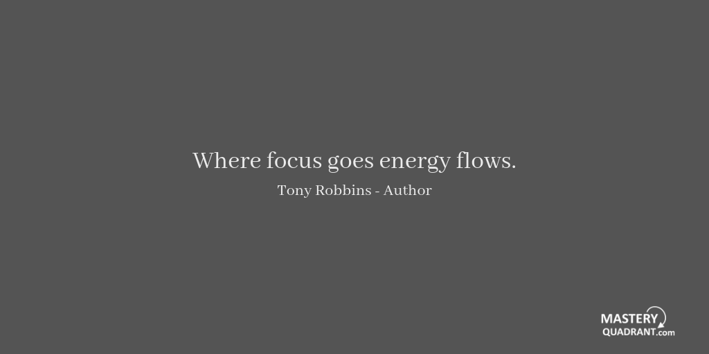 Productivity quote by Tony Robbins - Where focus goes energy flows