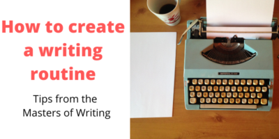 Developing a writing routine