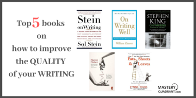 Books to help improve the quality of your writing